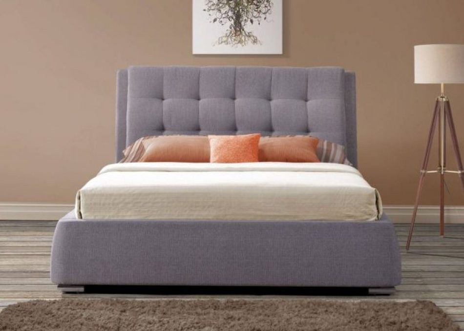 made bed, orange purple