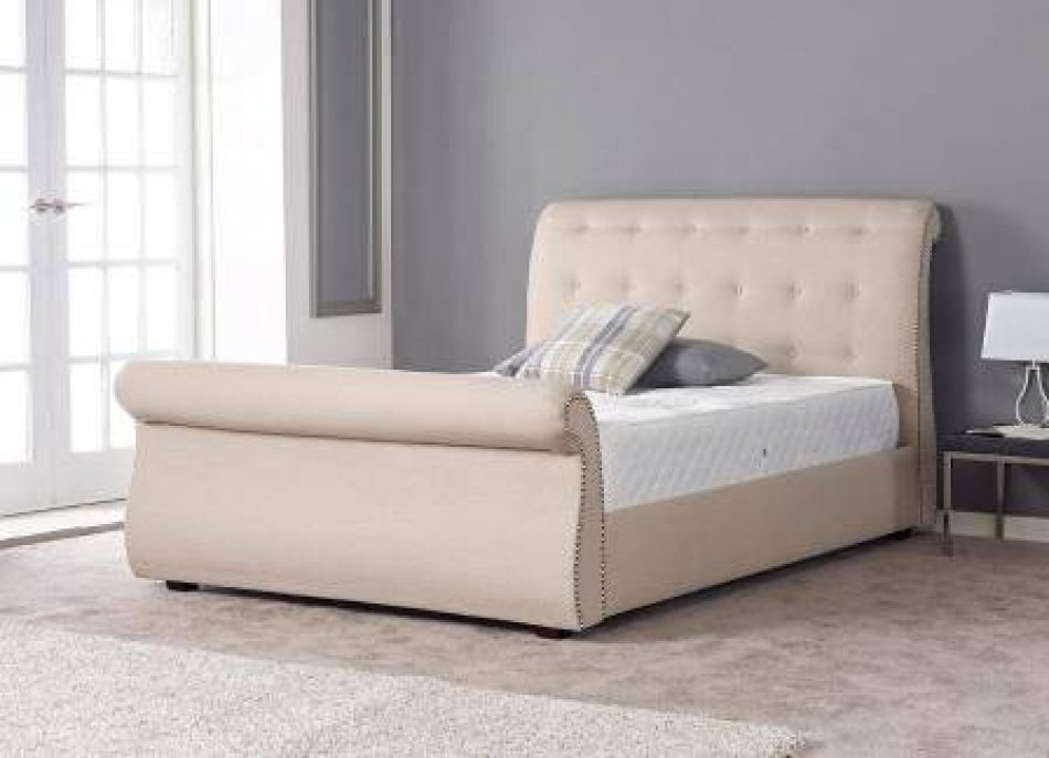 Sleigh Fabric Bed 011