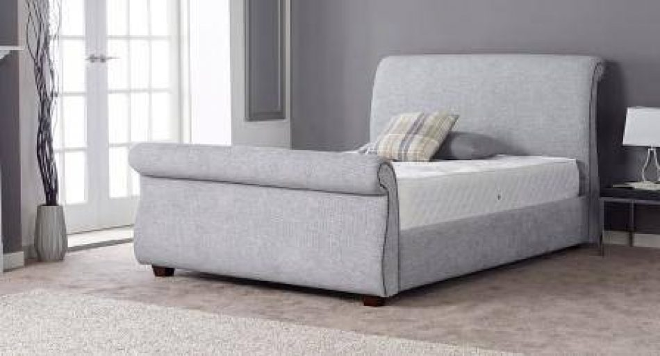 Sleigh Fabric Bed 012