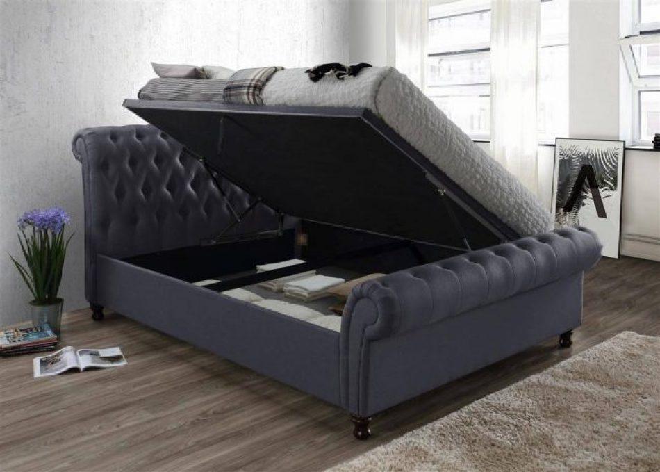 Sleigh Ottoman Bed 009