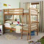 Bed 134 Oak bunk bed