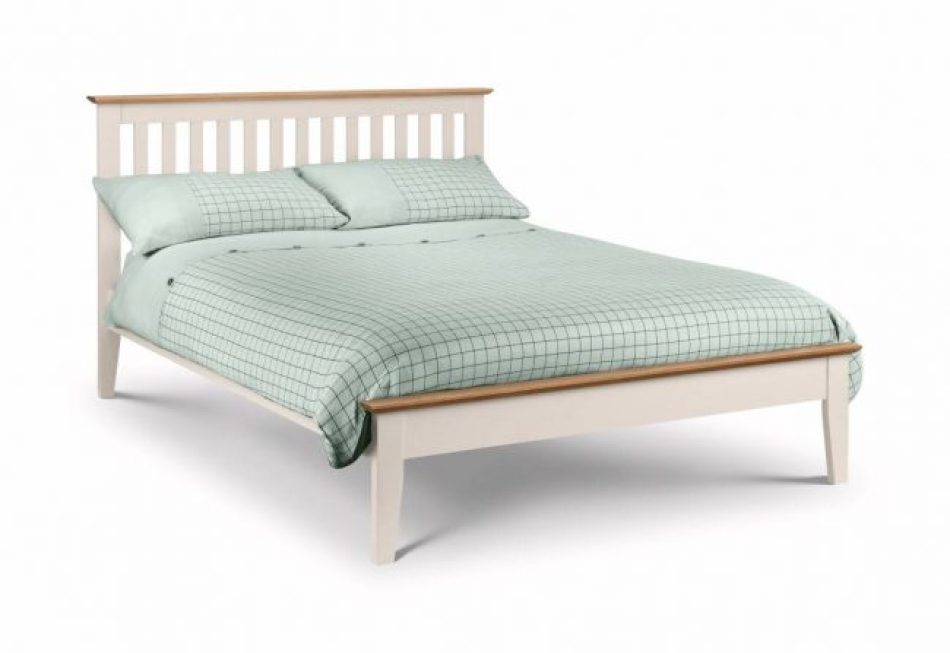 Wooden Two Tone Bed Frame