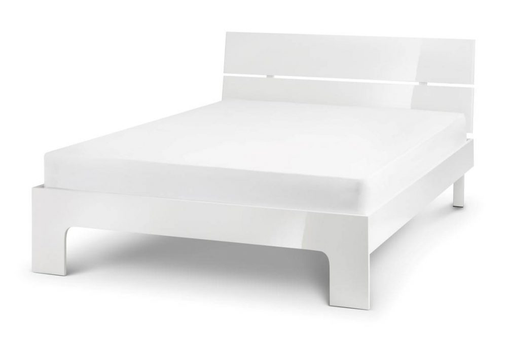 White High Gloss Bed