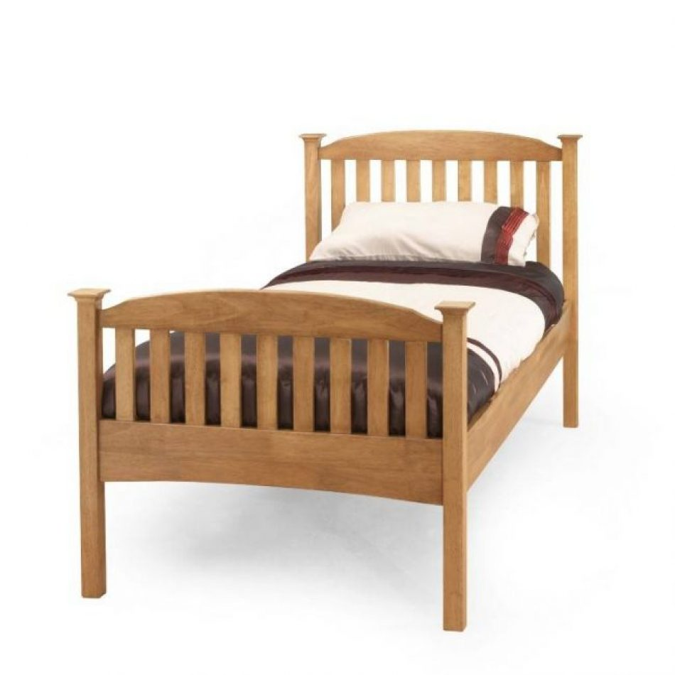 oak single bed frame