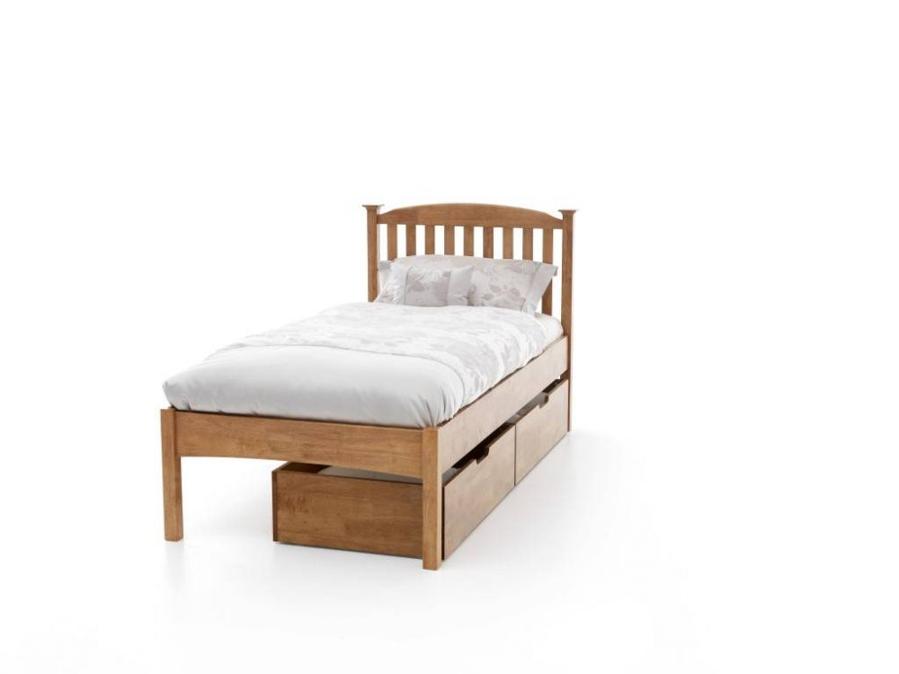 single bed with draws underneath