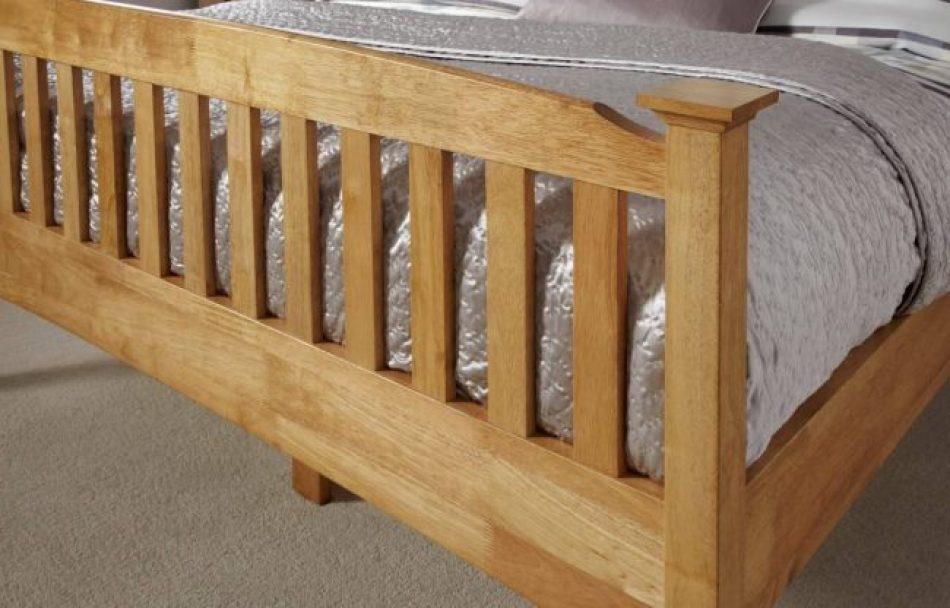 end of oak bed frame