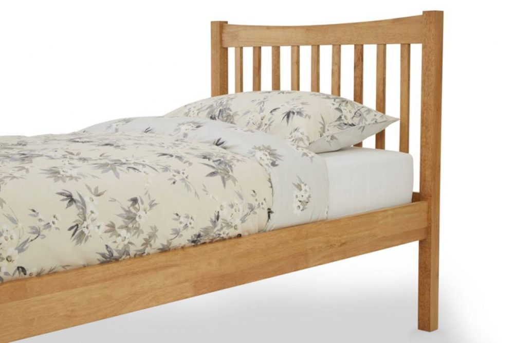 wooden square bed frame 2