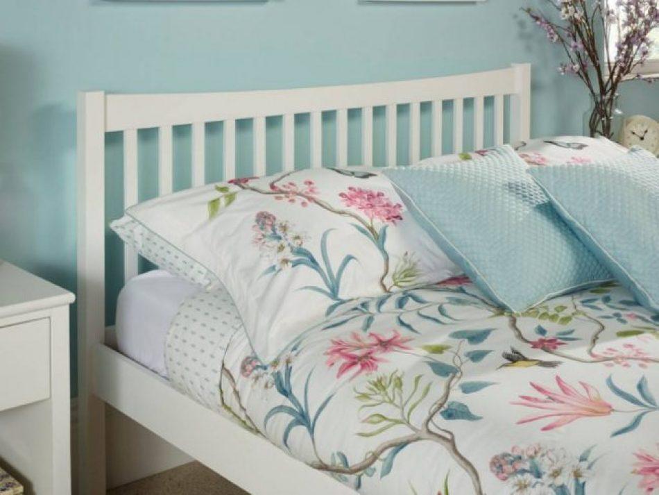white square bed frame