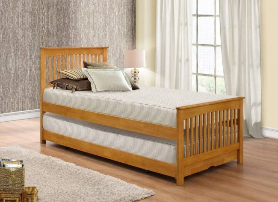 Wooden guest bed
