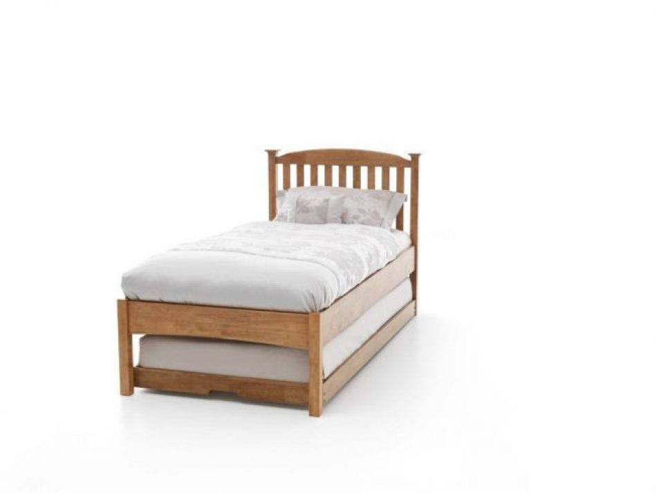 Low foot end Guest bed brown
