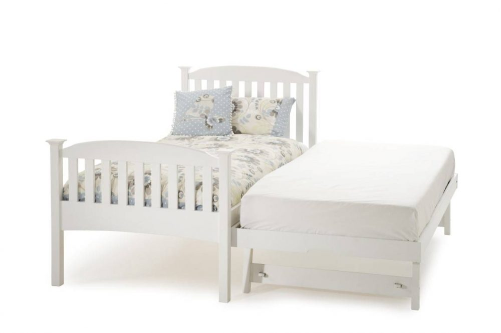 High foot end Guest bed white