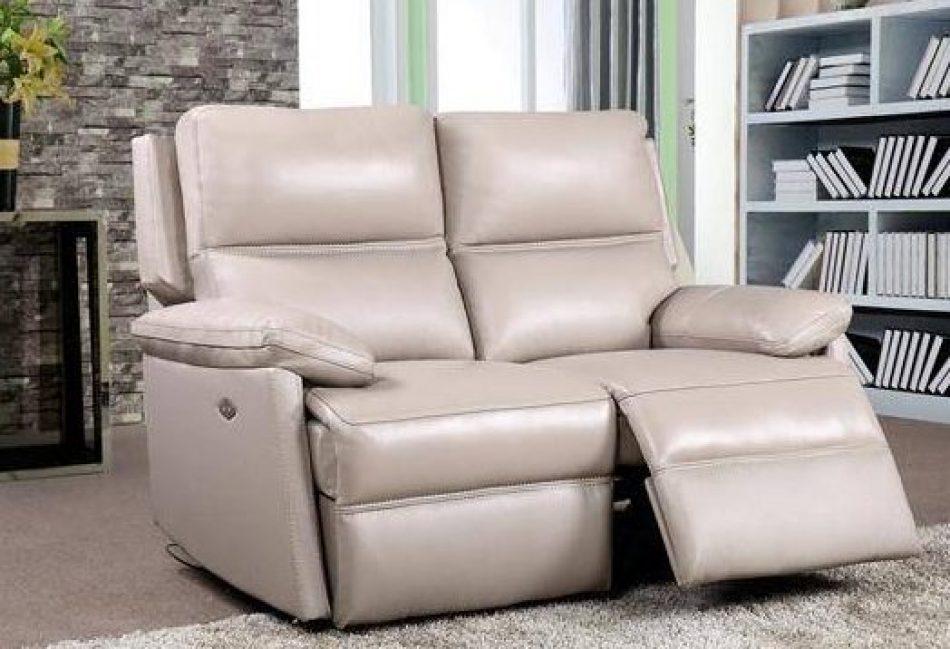 light leather recliner sofa