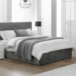 Grey Velvet Storage Bed 006