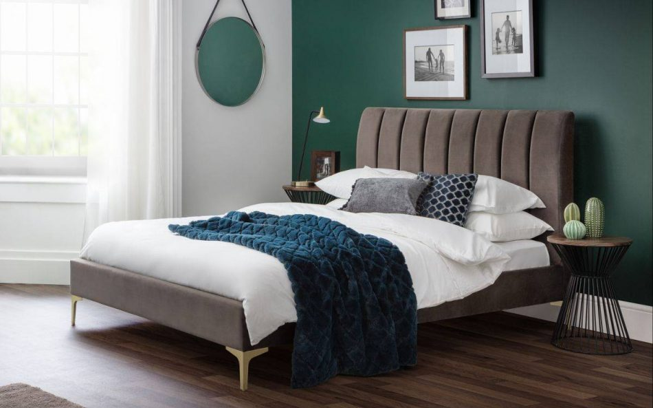 Grey Fabric Bed 009