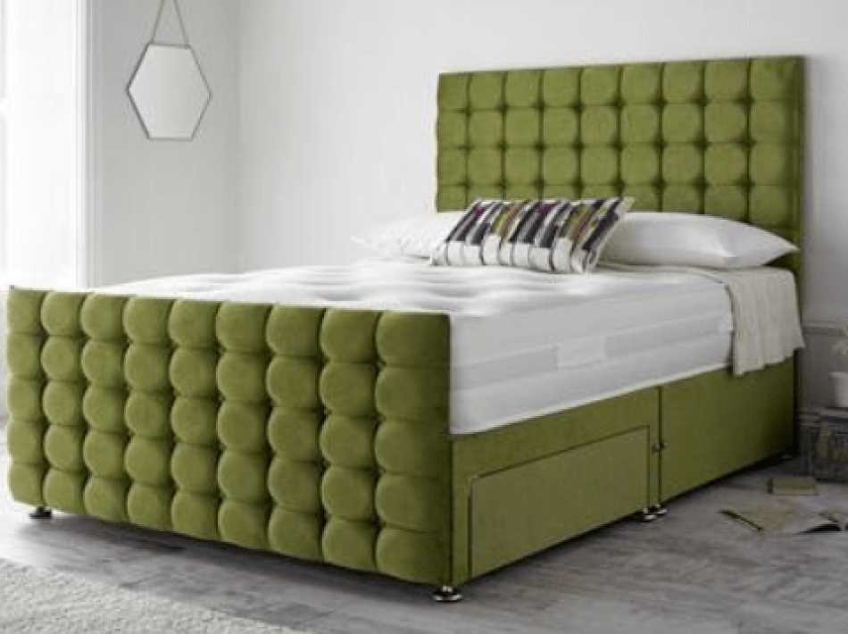 Luxury Divan Bed (High Foot board)