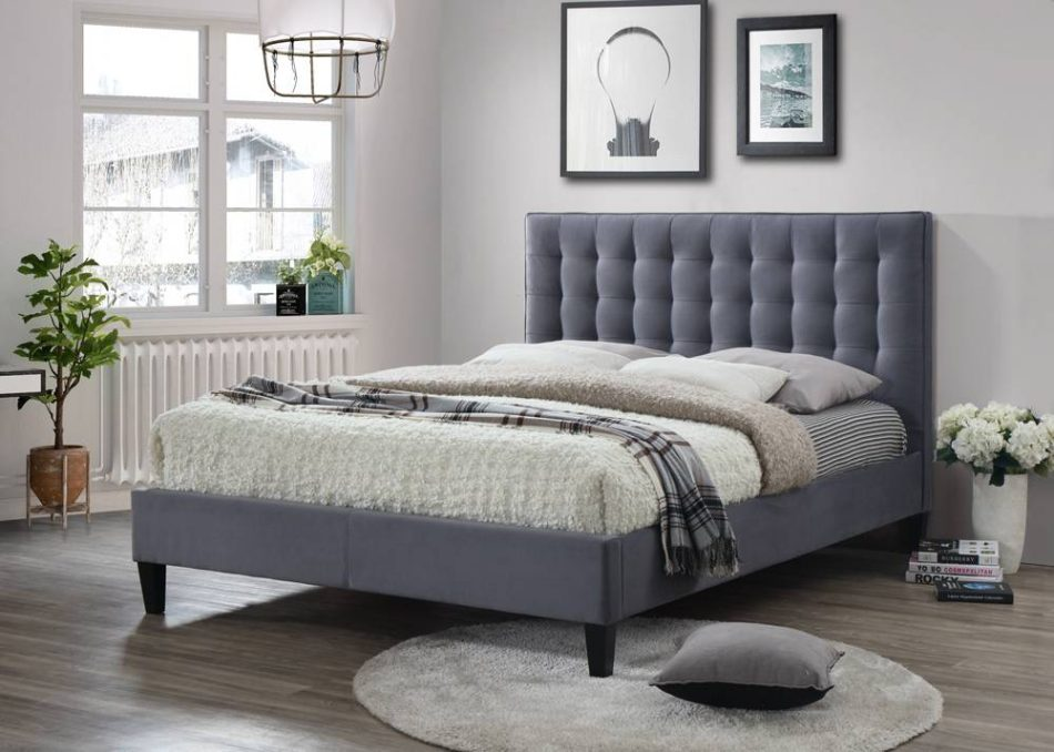 Contemporary Fabric Bed