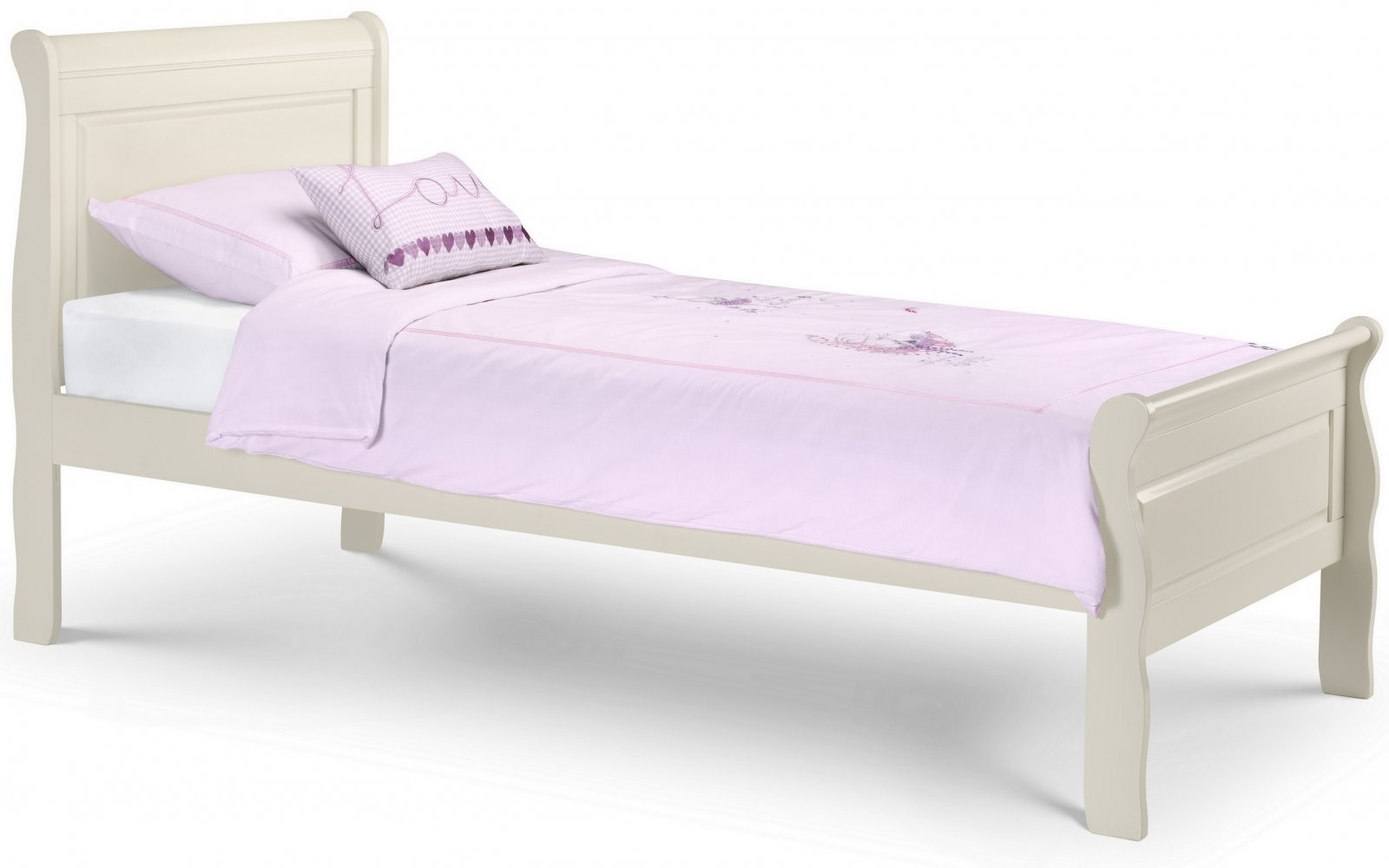 Bed 405 Stone White Sleigh Bed
