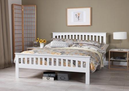 Bed 427 White Shaker styled frame
