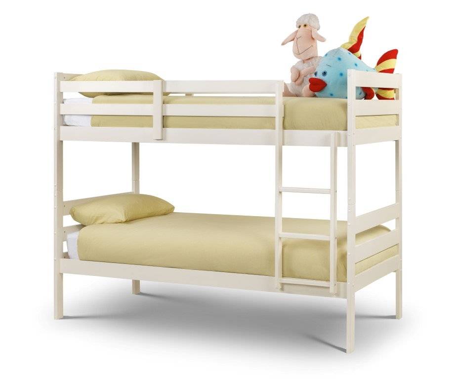 Bed 130 Stone White Bunk Bed