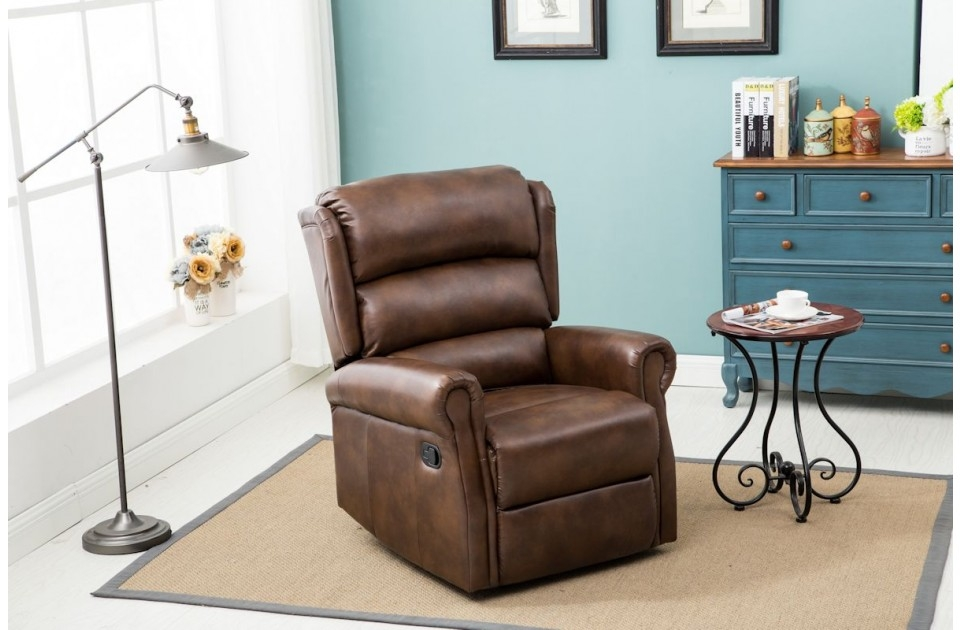 Manhatten Brown Recliner