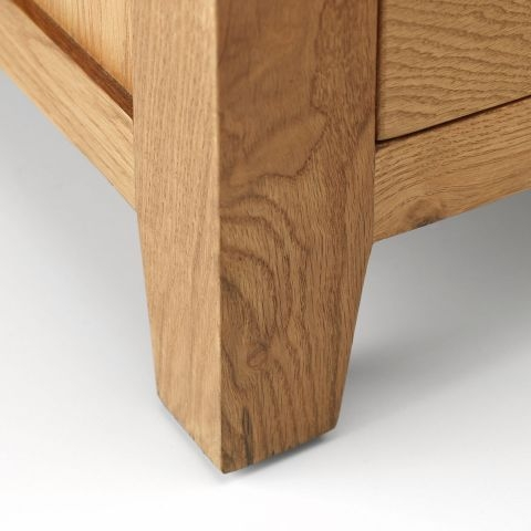 American Oak Single Pedestal Dressing Table
